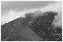Ridge and cloud, Mount Katahdin. Baxter State Park, Maine, USA ( black and white)