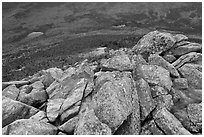 Rocks on summit of South Turner Mountain. Baxter State Park, Maine, USA (black and white)