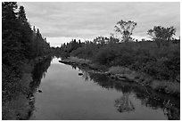 Machias River. Maine, USA ( black and white)