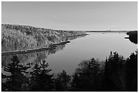 Penobscot River. Maine, USA ( black and white)