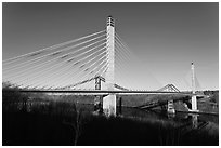 Penobscot Narrows Bridge and Observatory. Maine, USA ( black and white)