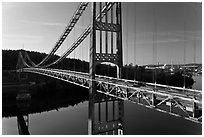 Waldo-Hancock Bridge. Maine, USA ( black and white)