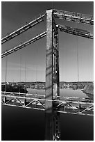 Historic Waldo-Hancock Bridge. Maine, USA (black and white)