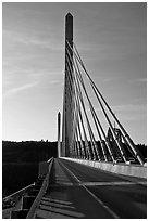 Penobscot Narrows Bridge from Verona Island. Maine, USA ( black and white)