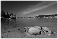 Burnt Cove. Stonington, Maine, USA ( black and white)