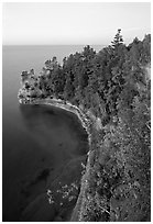 Miners castle, late afternoon, Pictured Rocks National Lakeshore. Upper Michigan Peninsula, USA ( black and white)