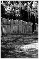 Fence, Grand Portage National Monument. Minnesota, USA ( black and white)