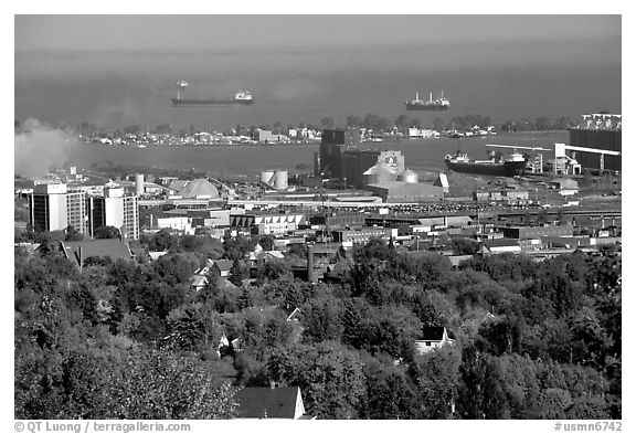 Duluth. Minnesota, USA (black and white)
