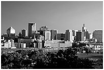 Saint Paul skyline, early morning. Minnesota, USA ( black and white)