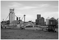 Fertilizer plant, Bowman. North Dakota, USA ( black and white)