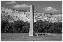 De Mores Packing Plant, Medora. North Dakota, USA (black and white)