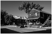 General store, Medora. North Dakota, USA (black and white)