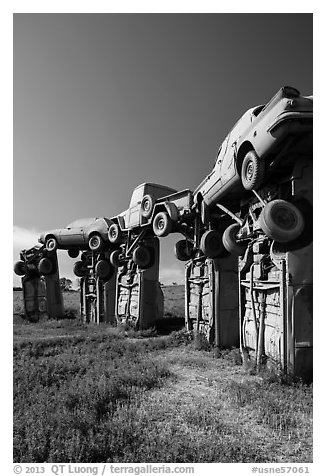 Car sculpture, Carhenge. Alliance, Nebraska, USA