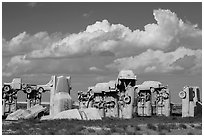 Carhenge. Alliance, Nebraska, USA ( black and white)