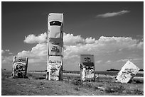 Car Art Reserve, Carhenge. Alliance, Nebraska, USA ( black and white)