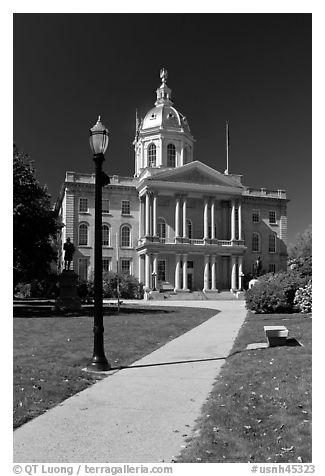 State capitol building of New Hampshire. Concord, New Hampshire, USA (black and white)