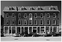 Building on main street. Concord, New Hampshire, USA ( black and white)