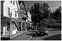 Street, North Woodstock. New Hampshire, USA ( black and white)