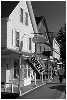 Stores, North Woodstock. New Hampshire, USA ( black and white)
