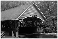 Covered bridge, Franconia Notch State Park. New Hampshire, USA (black and white)