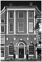 Portsmouth Athaneaum. Portsmouth, New Hampshire, USA ( black and white)