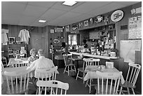 Chowder and Sandwich shot interior. Portsmouth, New Hampshire, USA ( black and white)