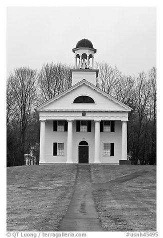 Academy Museum. Walpole, New Hampshire, USA (black and white)