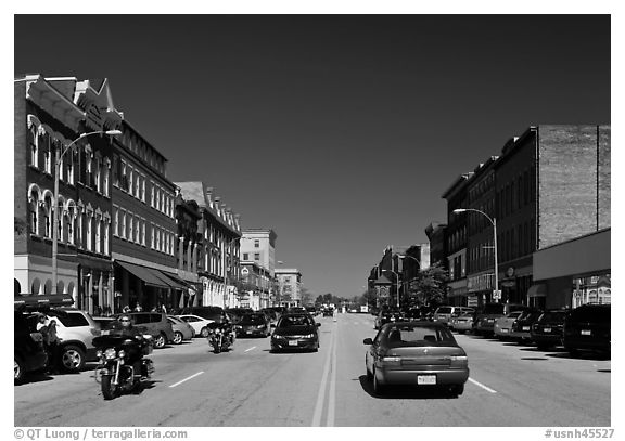 Main street. Concord, New Hampshire, USA (black and white)