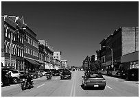 Main street. Concord, New Hampshire, USA ( black and white)