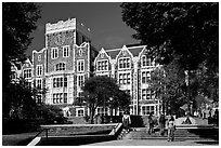 City University of New York. NYC, New York, USA (black and white)