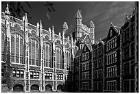 Shepard Hall, the City College, CUNY. NYC, New York, USA (black and white)