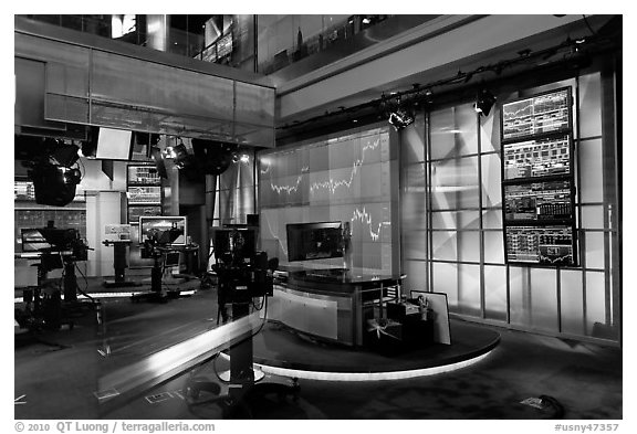 Newsroom, Bloomberg building. NYC, New York, USA (black and white)