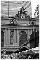 Outside Grand Central Terminal. NYC, New York, USA (black and white)