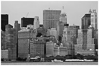 Lower Manhattan skyline,. NYC, New York, USA ( black and white)