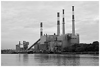 Power Station, Queens. NYC, New York, USA (black and white)