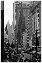 Fifth Avenue. NYC, New York, USA ( black and white)