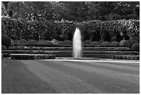 Fountain, Conservatory Garden. NYC, New York, USA ( black and white)