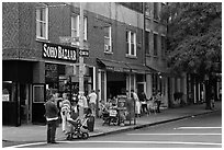 SoHo stores. NYC, New York, USA ( black and white)