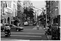 SoHo street. NYC, New York, USA ( black and white)