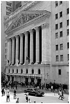 New York Stock Exchange. NYC, New York, USA ( black and white)