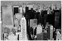 Upper Manhattan, Looking north from the Empire State building. NYC, New York, USA (black and white)