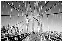 Brooklyn Bridge. NYC, New York, USA (black and white)