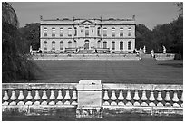 The Elms seen from its great lawn. Newport, Rhode Island, USA (black and white)