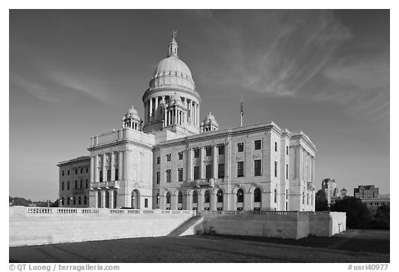 Rhode Island State House. Providence, Rhode Island, USA (black and white)