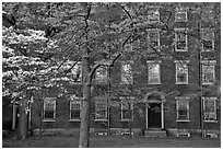 Hope College (1822), Brown University campus. Providence, Rhode Island, USA (black and white)