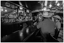 Inside bar, Interior. South Dakota, USA (black and white)