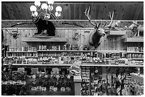 Inside Wall Drug Store, Wall. South Dakota, USA ( black and white)