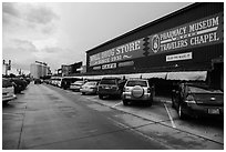 Wall Drug Store, Wall. South Dakota, USA (black and white)