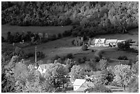 East Orange village in autumn. Vermont, New England, USA (black and white)