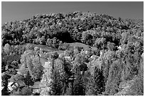 East Topsham village in fall. Vermont, New England, USA ( black and white)